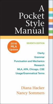 A Pocket Style Manual, 2016 MLA Update Edition Cover Art