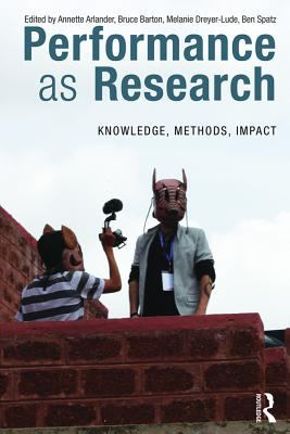 Cover of book Performance as Research. Link to catalogue entry for book