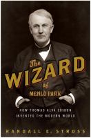 book cover for The Wizard of Menlo Park