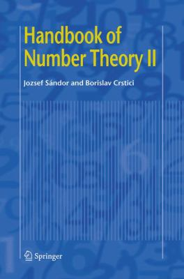 book covers: Handbook of Number Theory II