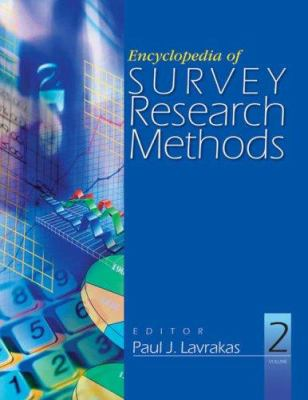 Book jacket for Encyclopedia of Survey Research Methods