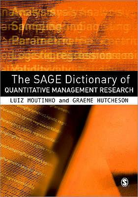 Book jacket for The SAGE Dictionary of Quantitative Management Research