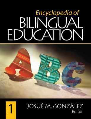 Book jacket for Encyclopedia of Bilingual Education