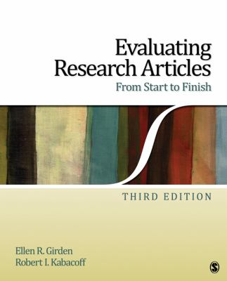Cover image for Evaluating research articles