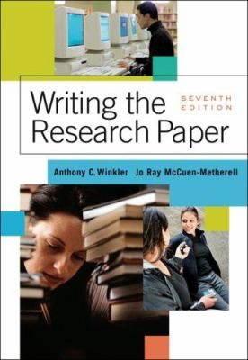 Book cover for Writing the research paper.