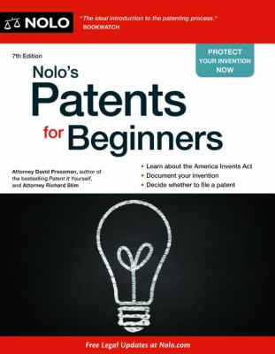 Cover art for Nolo's Patents for Beginners