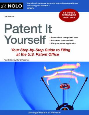 Cover art for Patent It Yourself (16th ed)