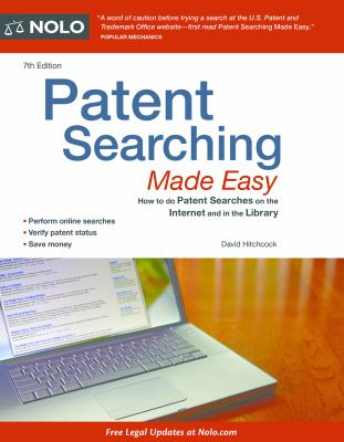 Cover art for Patent Searching Made Easy