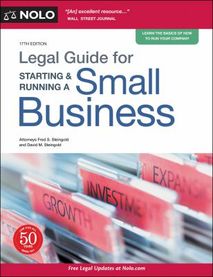 Legal Guide for Starting & Running a Small Business. by Steingold, Fred S.