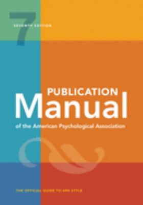 Book cover for the publication manual for the american psychological association