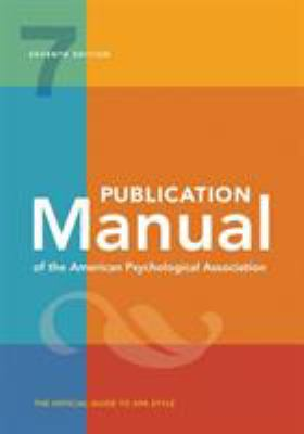 Front cover of the book Publication Manual of the American Psychological Association by American Psychological Association Staff