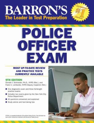 Barron's Police Officer Exam, 9th Edition