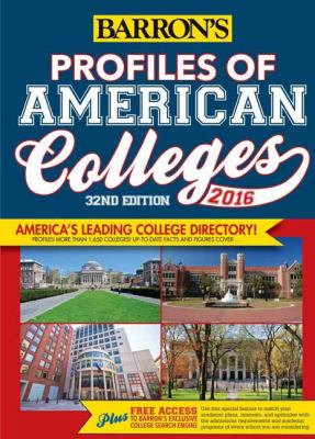 Profiles of American Colleges 2016 Cover Art