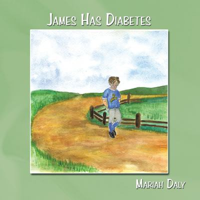 illustrated book cover of a boy in a blue t-shirt walking on a dirt path surrounded by a green field and a fence