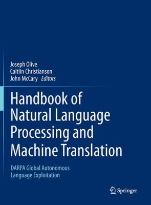 book cover: Handbook of Natural Language Processing and Machine Translation