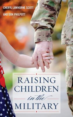 Book cover for Raising children in the military