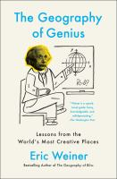 Geography of Genius book cover