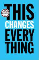 Book cover for This Changes Everything by Naomi Klein