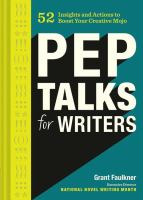 Pep Talks for Writers book cover