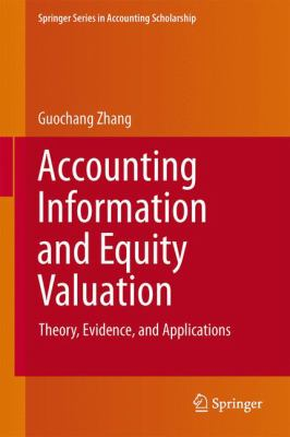 A picture of the front cover of Accounting Information and Equity Valuation.
