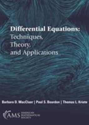 book cove - Differential Equations : techniques, theory, and application -