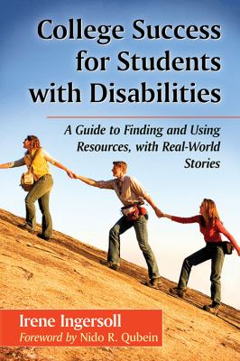 College Success for Students with Disabilities book cover. Three people holding hands and climbing up a steep incline.