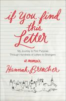 Book cover for If you Find This Letter