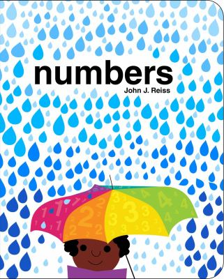 Cover Art features a child holding open a rainbow umbrella while it rains.