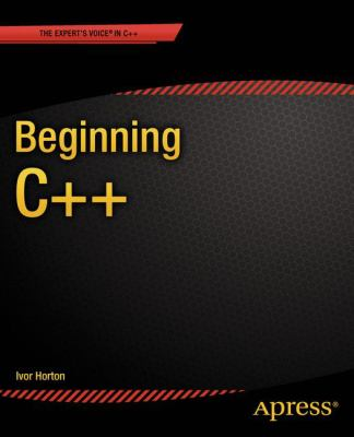 book cover: Beginning C++