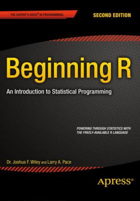 book cover:Beginning R: an introduction to statistical programming