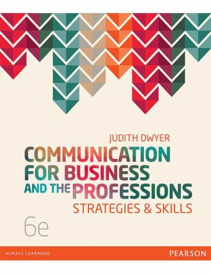 Book cover: Communication for business and the professions.