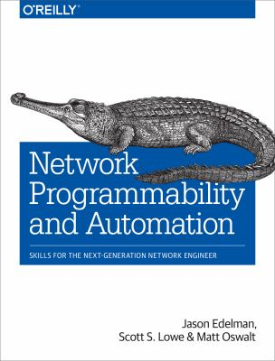 book cover Network Programmability and Automation