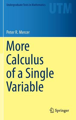 book cover: More Calculus of a Single Variable