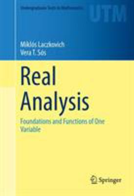 book cover: Real Analysis: foundations and functions of one variable
