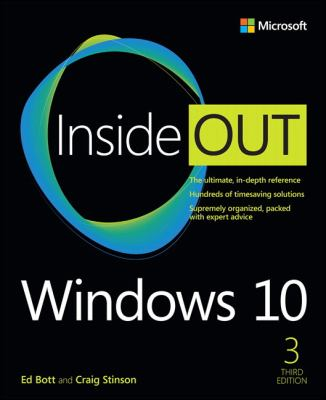 book cover: Windows 10 Inside Out
