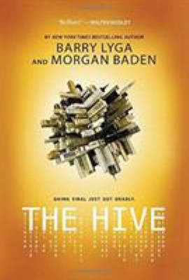 A stack of computer pieces rolled into a ball with the title The Hive dripping on a yellow-orange background