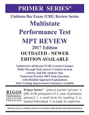 Link to Rigos Primer Series Uniform Bar Exam (UBE) Multistate Performance Test (MPT) Review