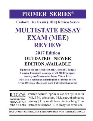 Link to Rigos Primer Series Uniform Bar Exam (UBE) Review Multistate Essay Exam (MEE)