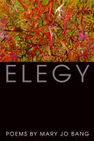 book cover for Elegy by Mary Jo Bang