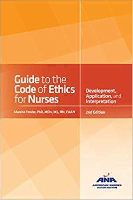 book cover image and link to ebook Guide to the Code of Ethics for Nurses with Interpretive Statements