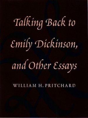 Cover Art for Talking Back to Emily Dickinson & Other Essays