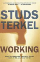 Book cover for Working by Studs Terkel