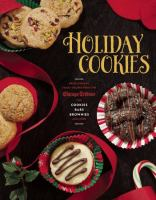 Book cover for Holiday Cookies cookbook