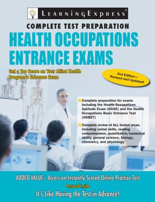 Cover: Health Occupations Entrance Exams