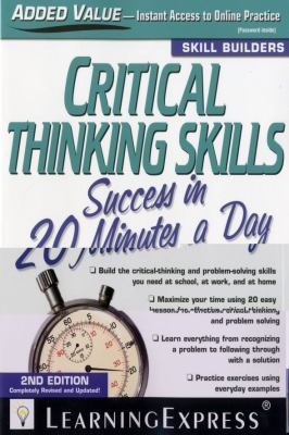 Book cover for Critical thinking skills success in 20 minutes a day.