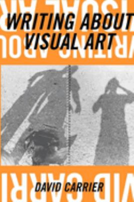 cover with orange field at top and bottom with upside down white text of title and author, right side up text in black. Image of 3 shadows on the ground in between orange, one figure is holding a camera. An antique typewriter is also on the ground.