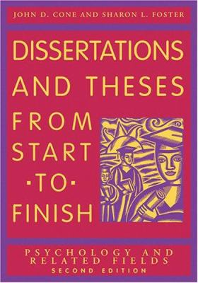 Book Cover for Dissertations and Theses from Start to Finish: Psychology and Related Fields