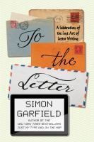 To the Letter book cover