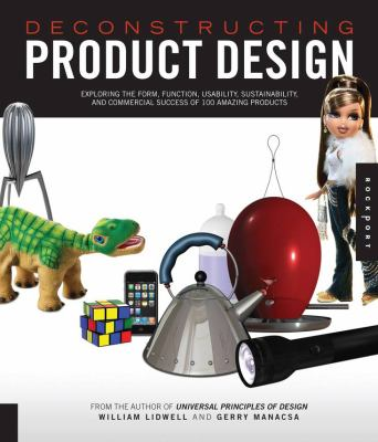 A book cover with a collage of product images, including a tea kettle, a flashlight, a Rubick's cuve, and other items. The title text is white on a black banner.