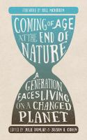 """""""Coming of Age at the End of Nature"""" Book Cover"""
